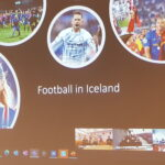 Presentation on Teams about sport in Iceland.