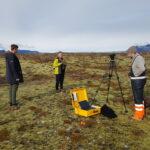 Preparing streaming on Skeiðarársandur.